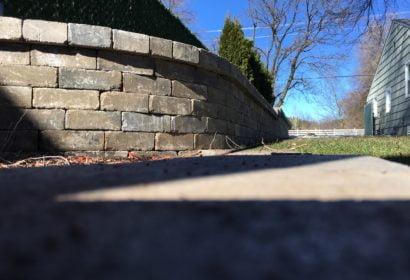 Retaining wall project in Spokane, Washington