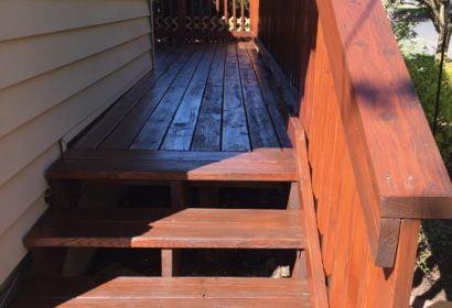 Deck staining in Liberty Lake Washington